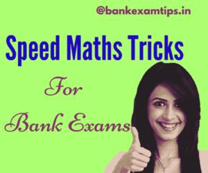Maths Tricks for Bank Exams