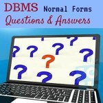 DBMS Questions and Answers
