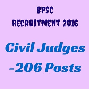 BPSC Recruitment Notification 2016