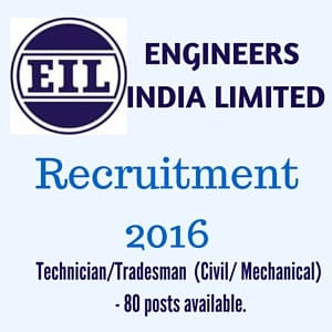 EIL Recruitment 2016
