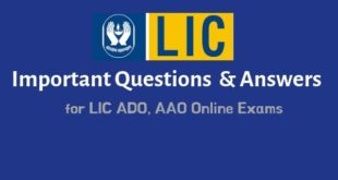 Insurance Questions & Answers for LIC ADO Online Exam