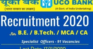 uco bank recruitment 2020 notification