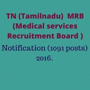 Tamilnadu govt. jobs 2016