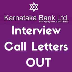 Karnataka Bank Scale I Officers
