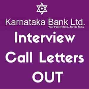 Karnataka Bank Scale I Officers