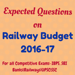 Questions on Railway budget 2016