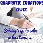 Quadratic Equations tips