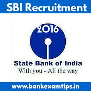 SBI Recruitment Notification 2016 for SBI Clerks