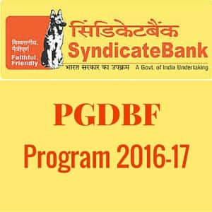 Syndicate Bank PGDBF Program 2016-17 - Interview Call-Letters OUT