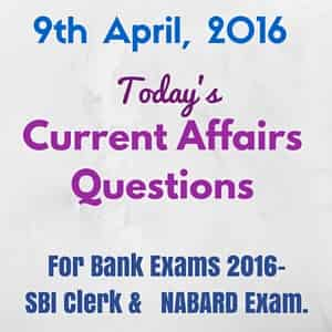 Current Affairs for Bank Exams 2016