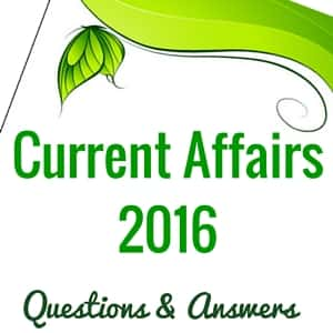 Current Affairs Questions
