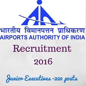 AAI Recruitment 2016 for Junior Executive Officers - 220 Posts