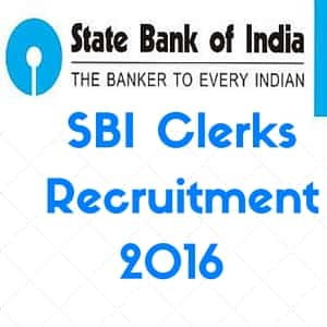 SBI Clerks Recruitment 2016