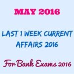 Latest Current Affairs for Bank Exams