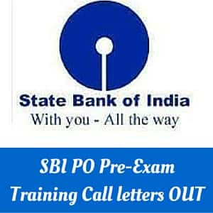 SBI PO Pre-Exam Training Call letter