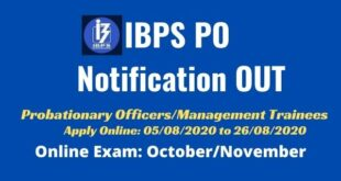 IBPS PO 2020 Notification