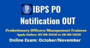IBPS PO 2020 Notification