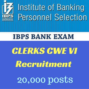 IBPS CLERKS CWE VI Notification 2016-17