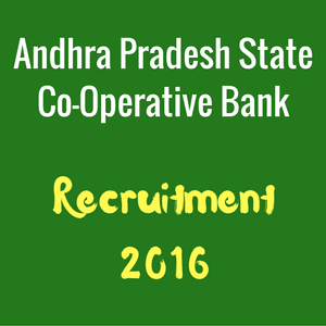 APCOB Recruitment Notification - Latest Bank Jobs 2016-17