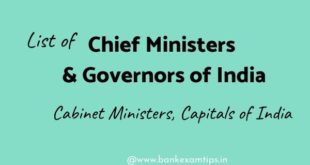 Chief Ministers and Governors of India in 2020 pdf