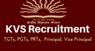 Kendriya Vidyalaya Recruitment 2018 for PGTs