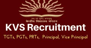 Kendriya Vidyalaya Recruitment 2018 for PGTs