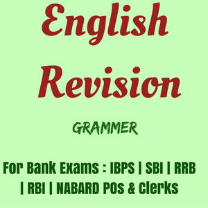 English Revision for IBPS Exams 2016-17