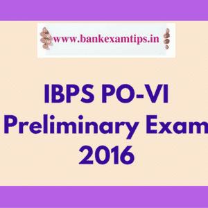 IBPS PO Prelims Exam Guidelines 2016