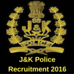 Jammu & Kashmir Recruitment 2016 for Police Constable Posts - 5381 posts.