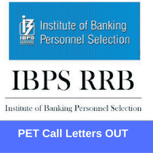 IBPS RRB PET Call Letters