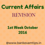 Current Affairs Revision - October 1st week PDF