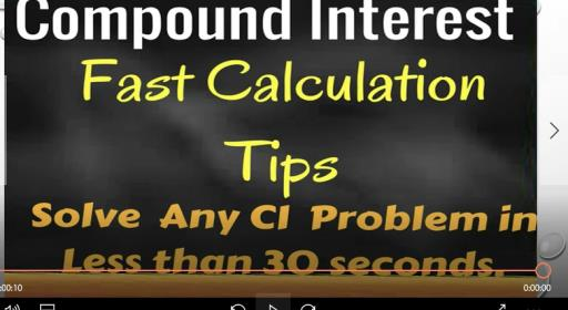 Compound Interest Practice Problems - Fast Calculation Tips