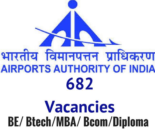 AAI Recruitment 2016 - Airport India Jobs - 682 posts