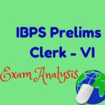 IBPS Clerks VI Prelims Exam First Day Analysis - 26th November 2016