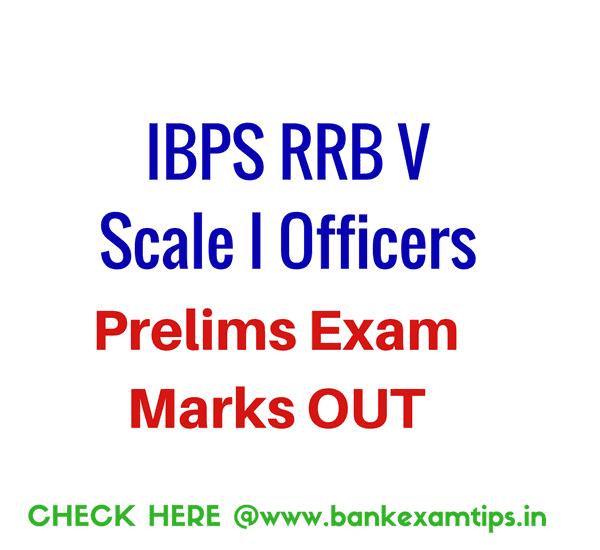 IBPS RRB V Officers Prelims Scores