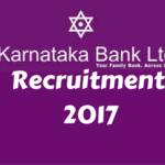 Karnataka Bank Recruitment 2017 for Clerks