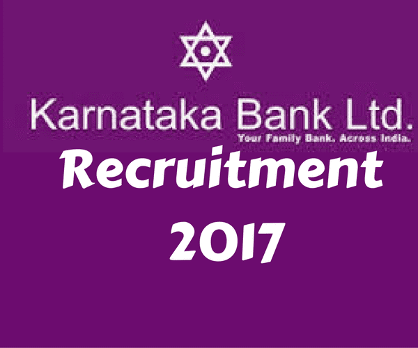 Karnataka Bank Recruitment 2017 for Clerks