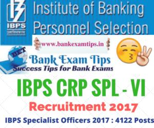IBPS SO VI Score Card 2017 | IBPS SPL-VI Score Card