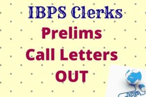 IBPS Clerk Prelims Exam Call Letter