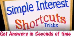 Simple Interest formulas and shortcut tricks with examples