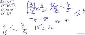 comparing fractions @Speed Maths