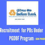 Indian Bank Recruitment 2017 for POs under PGDBF Program - 324 posts