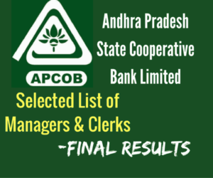 APCOB Selected List of Managers and Assistants