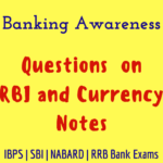 Banking Awareness Questions on RBI and Currency Notes