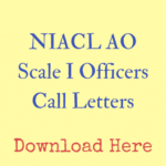 New India Assurance Call Letters for Administrative Officers 2016 - 2017