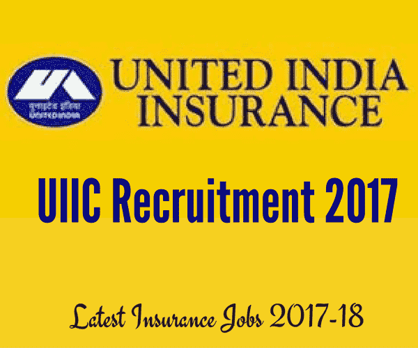 UIIC Recruitment 2017 for Assistant Posts in Jammu & Kashmir