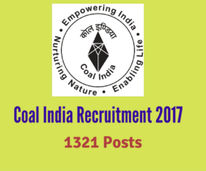 Coal India Recruitment 2017 for 1319 Posts (Management Trainees)