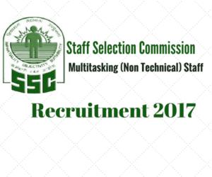 SSC Recruitment 2017 for multitasking staff