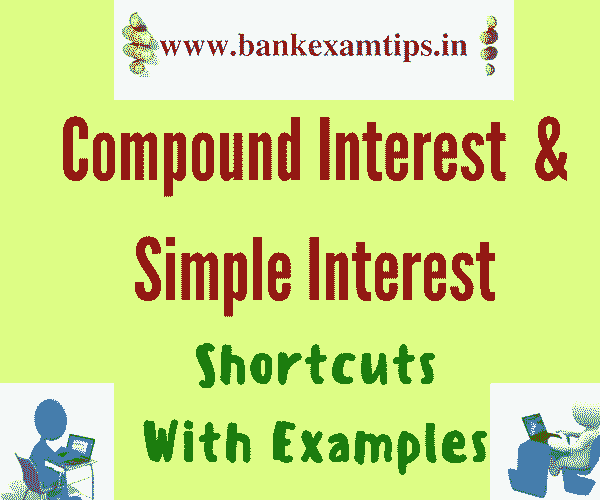 Simple Interest and Compound Interest Shortcuts With Examples