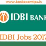 IDBI Bank Jobs 2017